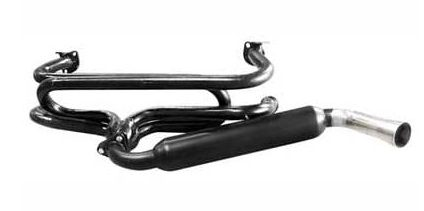 , Exhaust Header System With Glass Pack Muffler Fits VW Bug 1966-1974 | 251161