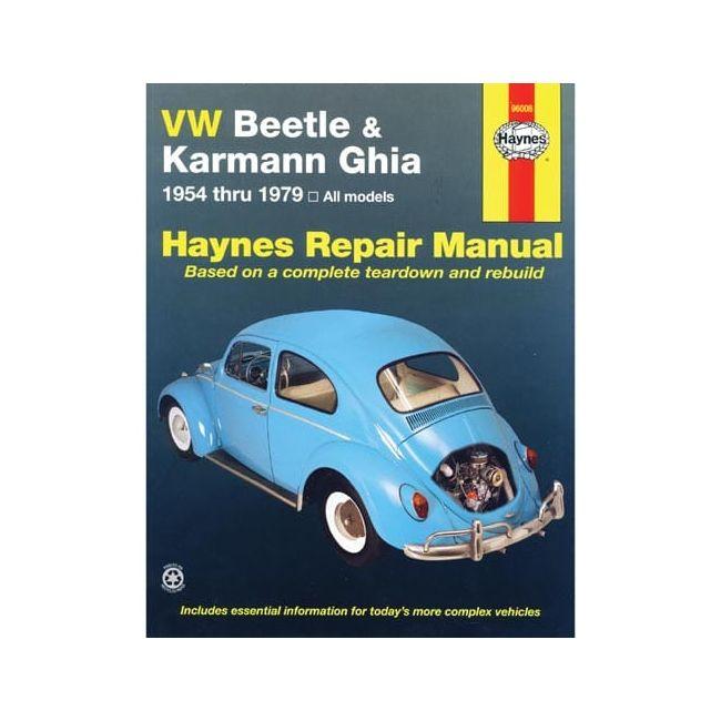 , Haynes Repair Book Manual, Type 1 And Ghia, 54 Thru 79 | 975108
