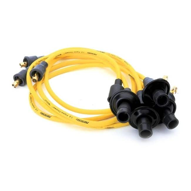 Yellow Spark Plug Wires on