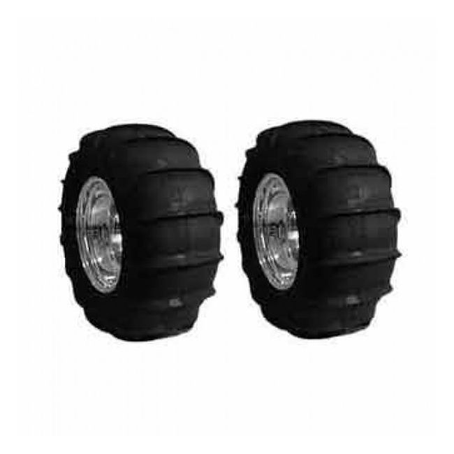 , Rear Viper Sand Paddle Tire Set 4 Lug Fits Dune Buggy And Sand Rails | PKG111-4