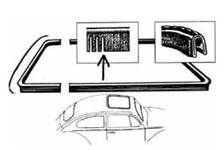 , Sun Roof Seal Front And Rear Fits VW Beetles 1973-1977 | 133-007A –