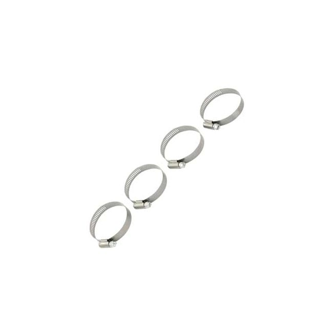 , VW Fresh Air Heat Heater Hose Clamps Stainless Steel Set of 4 | 129367