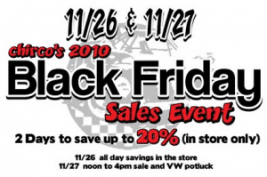 , Chirco's 2010 Black Friday Sales Event
