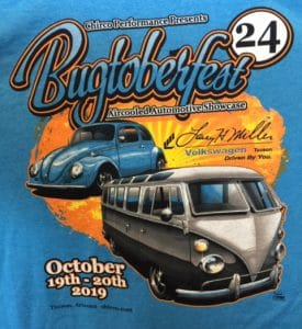 , Bugtoberfest 2019 Show Tee Shirts Are Now In Stock