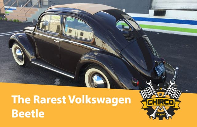 The rarest Volkswagen beetle is the Zwitter